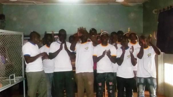 Les participants à l'animation du mini-salon Intégration à Ouagadougou