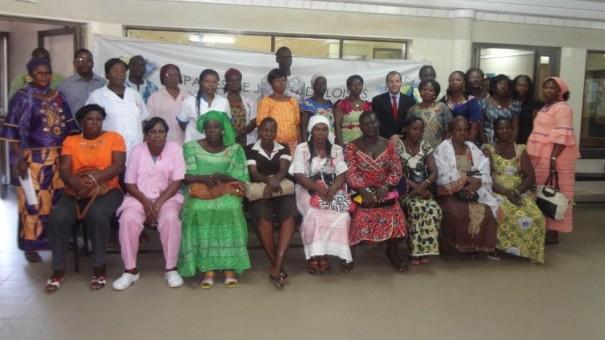 Les femmes participant à l'évènement