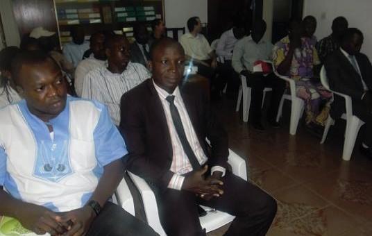 Pendant le séminaire Lydia ludic Togo