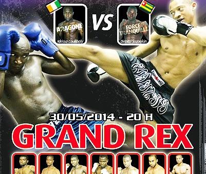 L'affiche de la soirée de Boxe Thaïlandaise sponsorisé par Lydia Ludic Togo