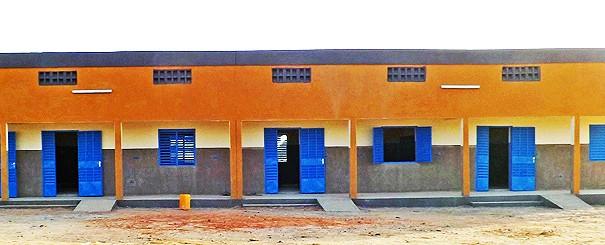 Projet Lydia Ludic -Le centre préscolaire de Dar Salam en construction