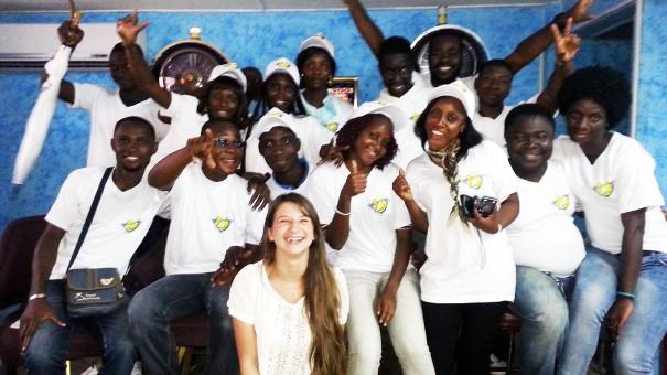 L'équipe d'animation Lydia Ludic Côte d'Ivoire qui a animé la salle de Jeux et Loisirs Adjamé 220