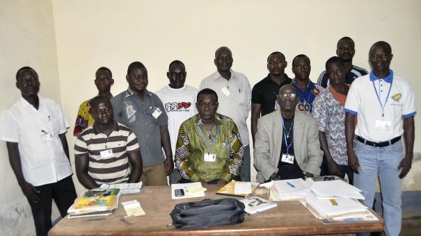 Les caissiers Lydia Ludic Burkina Faso lors de la formation sur la sécurité au travail, dans la région de l'Est