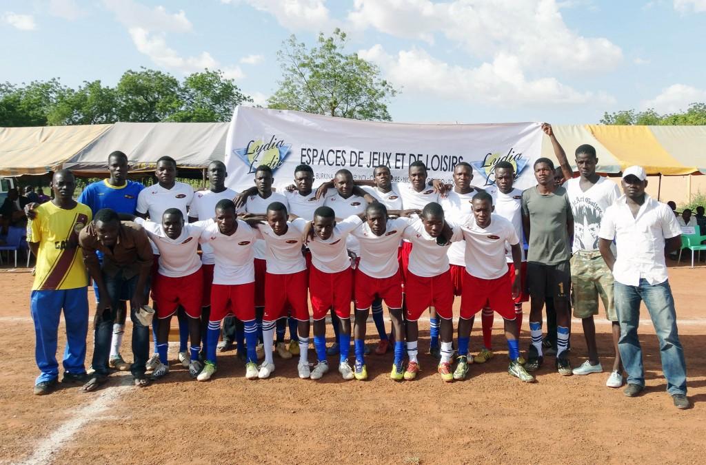 Une des deux équipes participant à la finale de la 1ère Coupe du Maire de l'arrondissement nº1 de Ouagadougou