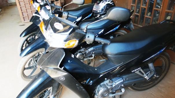 Aperçu des nouvelles motos acquises par Lydia Ludic Burkina Faso