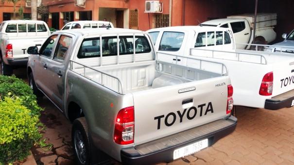 Les voitures Toyota acquises par Lydia Ludic Burkina Faso