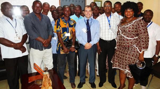 Rencontre Lydia Ludic Burkina Faso avec les chefs de salle