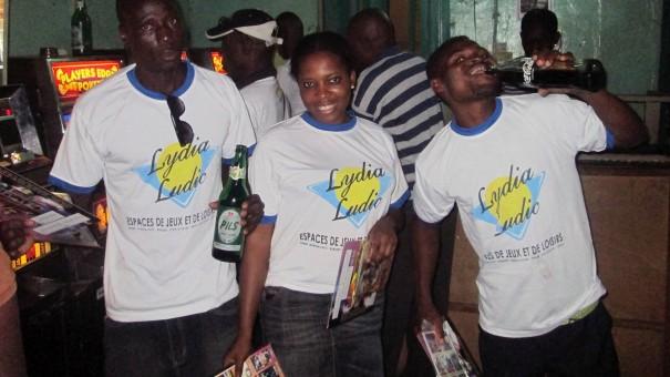 Lydia Ludic Togo anime des bars partenaires