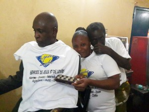 Animation de Lydia Ludic Niger dans l'Espace de Jeux et de Loisirs du quartier Harobanda, à Niamey