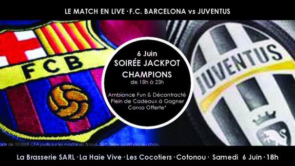 Lydia Ludic Bénin a célébré la finale de la Ligue des Champions – Barcelona/Juventus – avec ses clients