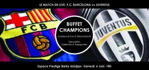 Lydia Ludic Côte d'Ivoire animé la soirée de la finale de la Ligue des Champions avec ses clients  – Barcelona/Juventus