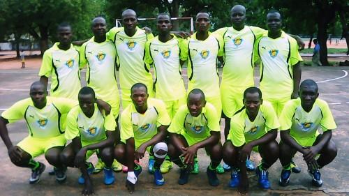 L'équipe SACR, sponsorisée par Lydia Ludic Bénin pour le Championnat National de Maracana Béninois