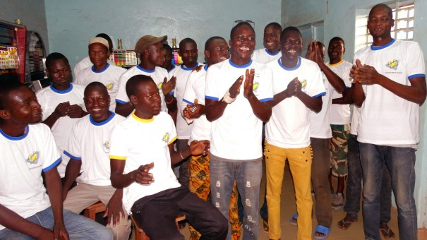 Animation Lydia Ludic Burkina Faso de l'Espace de Jeux et de Loisirs du quartier Hamdalaye, à Ouagadougou