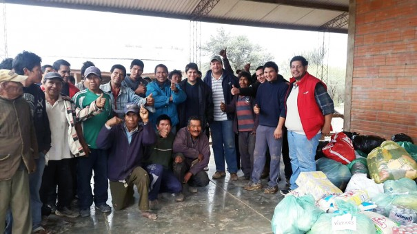 Lydia Ludic Paraguay donó alimentos a la comunidad de los Manjuís que sufre hambruna