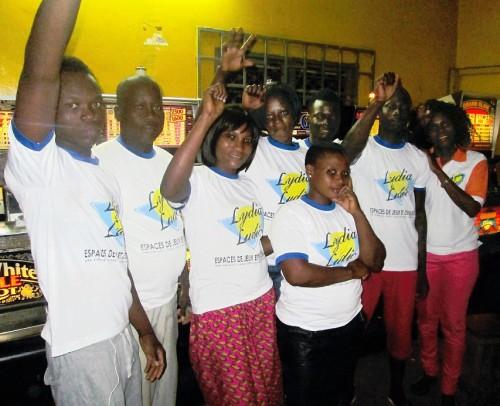 Lydia Ludic Togo a animé son Espace de Jeux et de Loisirs du bar partenaire Jeunesse, dans le quartier Agoé à Lomé