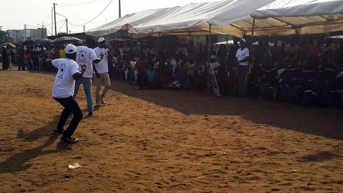 Concours de danse de Lydia Ludic Côte d'Ivoire pendant la Coupe FRANCIS PEREZ spécial Koumassi