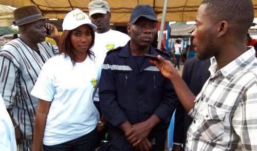 Campagne de sensibilisation à la sécurité routière organisée par Lydia Ludic Côte d'Ivoire pendant la Coupe FRANCIS PEREZ spécial Koumassi,