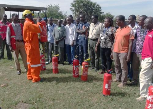Lydia Ludic Burkina Faso a formé ses agents contre les incendies à Ouagadougou