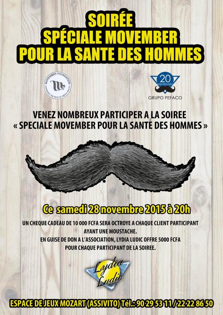 Lydia Ludic Togo a organisé une animation spéciale Movember pour contribuer à changer le visage de la santé masculine