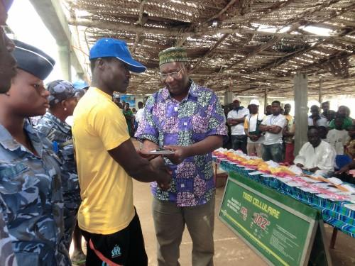 Remise des certificats de participation aux activités de la 3ème Edition du Festival d'Aného sponsorisée par Lydia Ludic Togo
