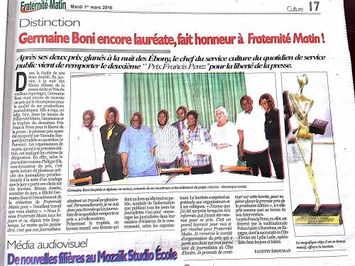 16-02-Lydia-Ludic-Côte-dIvoire-Abidjan-CSR-Social-Prix-Francis-Perez-Liberté-Expression-Presse-Fraternité-Matin