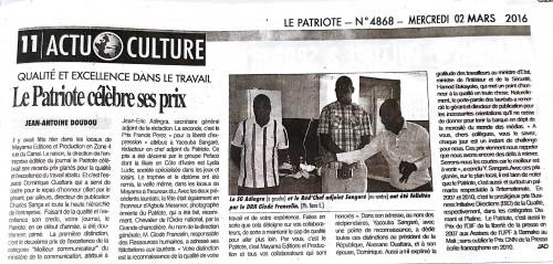 16-02-Lydia-Ludic-Côte-dIvoire-Abidjan-CSR-Social-Prix-Francis-Perez-Liberté-Expression-Presse-Le-Patriote-1