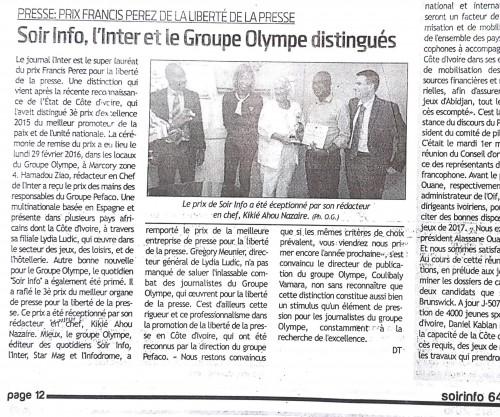 16-02-Lydia-Ludic-Côte-dIvoire-Abidjan-CSR-Social-Prix-Francis-Perez-Liberté-Expression-Presse-Soir-Infos