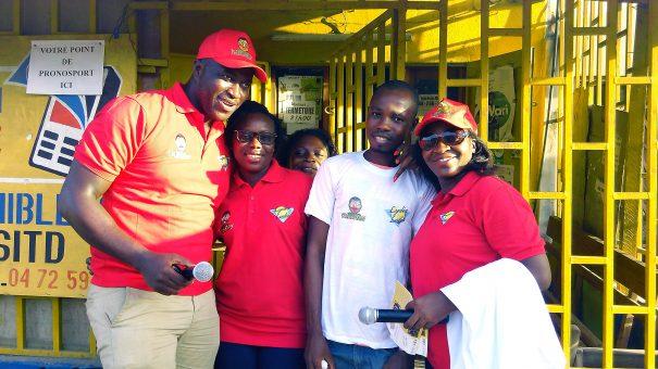 Animation Lydia Ludic Côte d'Ivoire de l'Espace de Jeux et de Loisirs situé dans le bar partenaire XXXX dans le quartier Cyber Marke, dans la commune de Yopougon à Abidjan