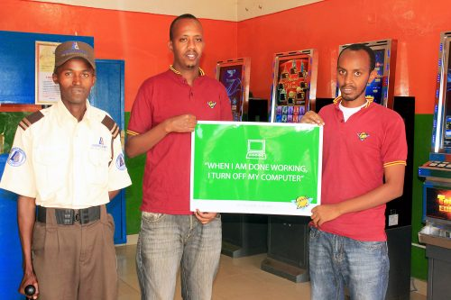 JGME_PEFACO : ENVIRONMENT & ENERGY - Lydia Ludic Rwanda's employees started Grupo Pefaco's campaign