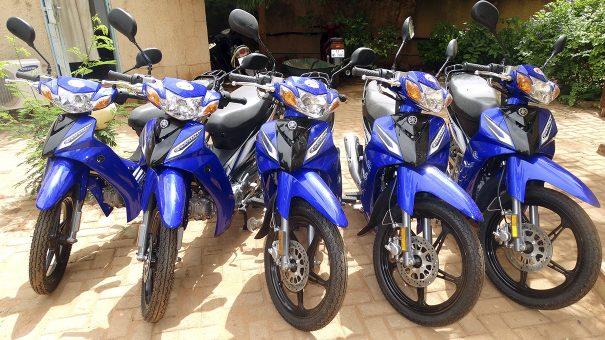 Lydia Ludic Burkina Faso a acquis de nouvelles motos pour renforcer son parc à Bobo-Dioulasso