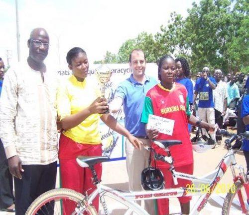 Lydia Ludic Burkina Faso sponsorise le 3eChampionnat d'Afrique UCI de Paracyclisme - Juin 2010