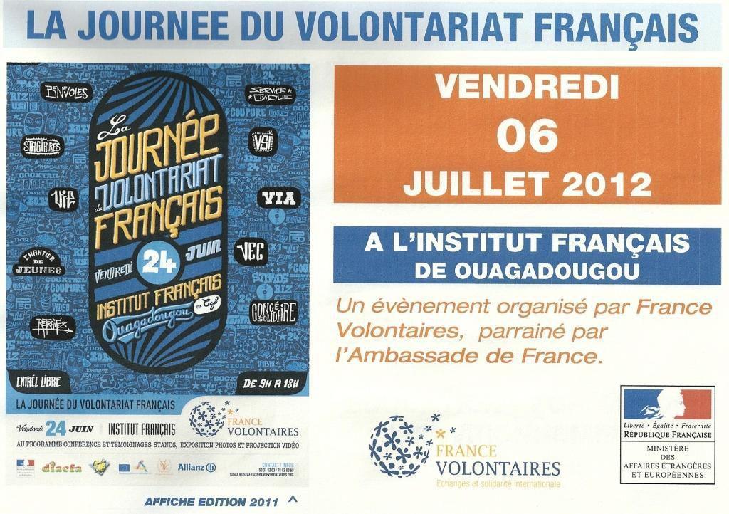 Lydia Ludic Burkina Faso sponsorise la Journée du Volontariat Français - Juillet 2012