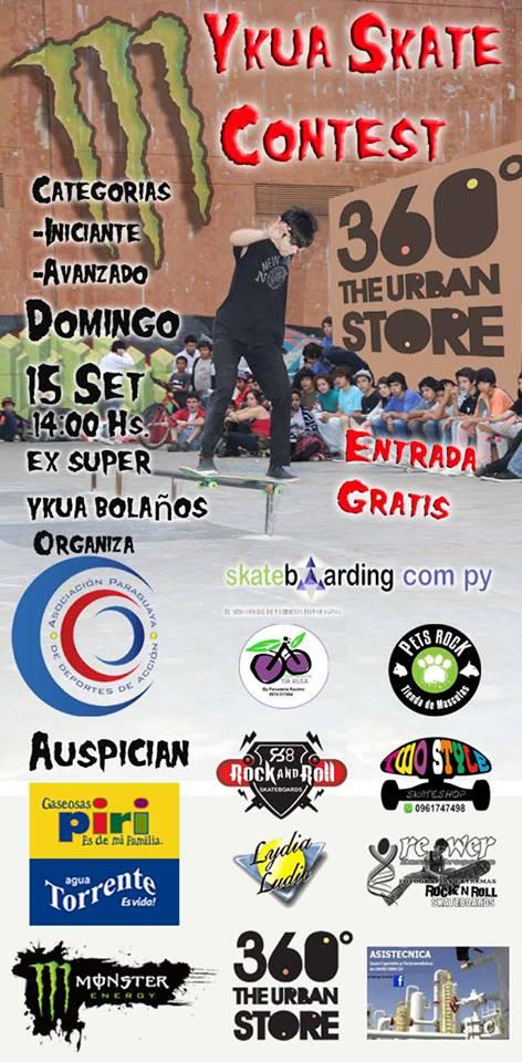 Lydia Ludic Paraguay sponsorise le compétition de skate Ykua - Septembre 2013