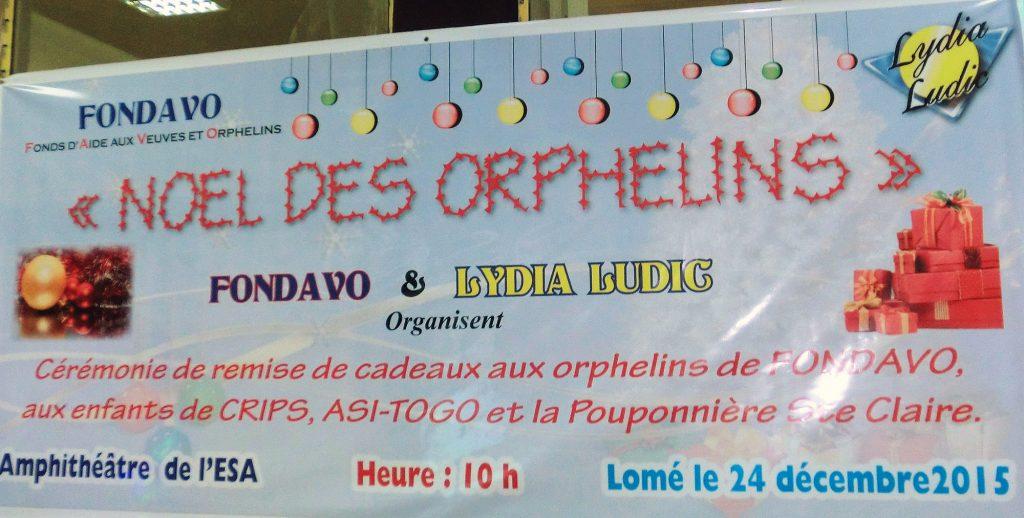 Lydia Ludic Togo organise l'Arbre de Noël des Orphelins de Lomé - Décembre 2015
