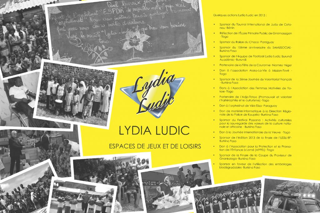 Dépliants des Actions Sociales de Lydia Ludic en 2013