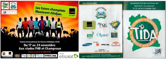 Lydia Ludic Côte d'Ivoire sponsorise le Tournoi International du District d'Abidjan - Novembre 2012
